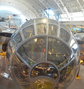 "Steven F. Udvar-Hazy Center: Boeing B-29 Superfortress ""Enola Gay"" (nose view)"