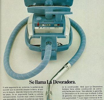 1971 Appliance Ad, Koblenz Vacuum (lengua española revista)